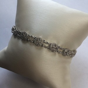 Diamond Filigree Bracelet, 14kt White Gold
