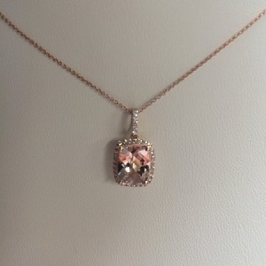 Morganite & Diamond Pendent