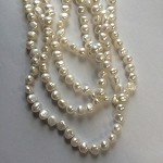 White Fresh Water Strand Pearls, 108